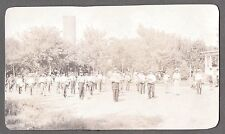 VINTAGE RPPC 1907-14 MARCHING BAND CITY PARK DRUMS HORNS PARADE PHOTO POSTCARD