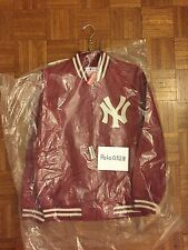 Supreme NewYork Yankees 47 brand LEATHER VARSITY JACKET 2015SS RED DS NEW