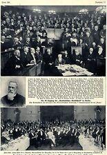 29. período de sesiones de la Sociedad Anatómica en Berlín histórica grabación de 1908