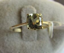 1.14 cts Genuine Csarite Solitaire Size 7 Ring 10k Yellow Gold