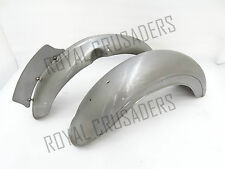 BRAND NEW ROYAL ENFIELD G2 MODEL FRONT AND REAR MUDGUARDS RAW STEEL 1962@pummy