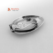 Folding Medicine Spoon Gothic Handle Currier Roby Sterling Silver 1920