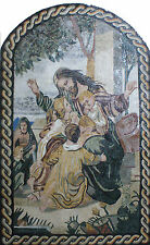 Religious Jesus Kids Love Care Art Decorative Painting Marble Mosaic FG816