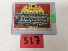 1959 Topps Los Angeles Dodgers Team Card #457 Lot 317