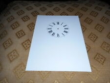 """Carriage Clock Paper Dial-  2 1/2"""" (M/T)- High Gloss White- Face /Clock Parts"""
