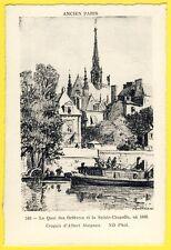 cpa Gravure Eau Forte PARIS en 1866 Le QUAI des ORFEVRES et la Ste CHAPELLE