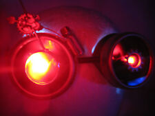 Pro Steampunk Goggles Cosplay Copper Clockwork Watch Gears LED Red Lenses 7.5x 2