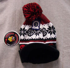 Black/White/Red Dollar Sign Billed Knit Cap Hat ONE SIZE Piranha Records
