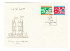 DDR FDC Ersttagsbrief 1960 Tag des Chemiearbeiters Mi.Nr.801+2