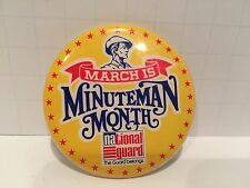 National Guard Minuteman Month Button 2 1/2 Inches Vintage