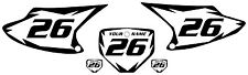 2003-2007 HONDA CRF150F Custom PrePrinted White Backgrounds Black Shock Series