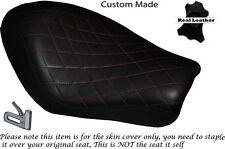 DIAMOND STITCH DARK RED CUSTOM FOR HARLEY SPORTSTER LOW IRON 883 SOLO SEAT COVER