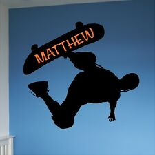 Personalized Skateboard Wall Decal Removable Wall Lettering