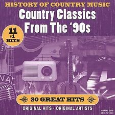 History of Country Music: Country Classics From The 90s -- New Country Music CD