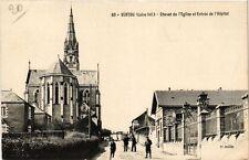 CPA  Vertou (Loire-Inf. ) - Chevet de l'Eglise et Entrée de l'Hopital (242765)