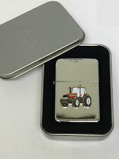 Case International Red Tractor Lighter Enamel Badge NO FUEL INC Gift Box Farming