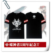 噬神者 GOD EATER 5th anniversary cotton T-shirt Black