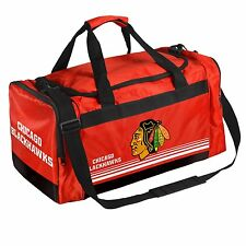 Chicago Blackhawks Duffle Bag Gym Swimming Carry On Travel Luggage NEW - STRIPED