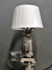 Suberb Large Silver Nickle Pineapple Table Light Lamp With Complementary Shade