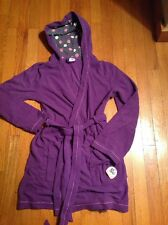 NWT Women's/Junior's SO Hooded Microfleece Robe, Purple, Sz S