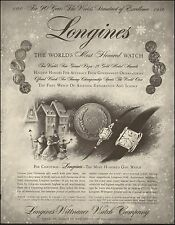 1956-Vintage ad for Longines-Wittnauer Watch Comp.Art Christmas (032415)