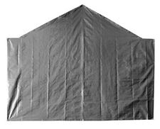 10' Opening End Tarp Heavy Duty 12 mil Canopy Carport Back Wall Panel Silver