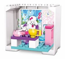 Mega Bloks Barbie Coffee Shop Poodle Building Set 16 Pieces
