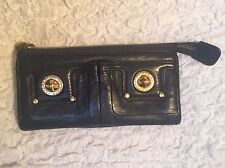 Marc by Marc Jacobs Totally Turnlock Black Zipper Wallet