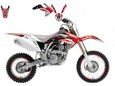 BLACKBIRD HONDA CRF 150 2015 KIT GRAFICHE DREAM 3 GRAPHICS ROSSO NERO RED BLACK