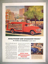 Studebaker Trucks PRINT AD - 1948 ~~ 1949 model, bottle truck