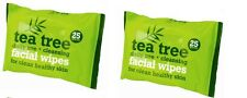 TEA TREE DAILY USE FACE CLEANSING MAKE UP/IMPURITIES/DIRT REMOVAL WIPES 25X2=50