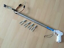 New Piranha 80cm Speargun Fishing With 4 Spare Spear Heads