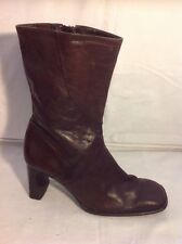 5TH AVENUE Brown Ankle Leather Boots Size 39