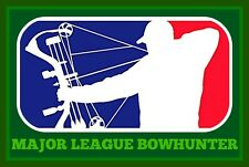 "3.25"" MAJOR LEAGUE BOWHUNTER Vinyl bumper Sticker. compound bow and arrow hunter"