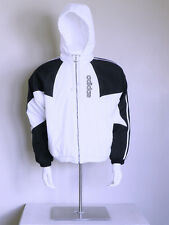 vtg 80s authentic Adidas spellout obyo Healthgoth hip hop Trefoil puffer jacket
