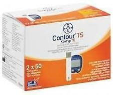 Bayer Contour TS 100 Test Stripsr for Blood Sugar Diabetes Diabetic Monitor