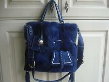 AUTHENTIC  LANCEL PREMIER FLIRT FUR SHOULDER BAG-BLUE