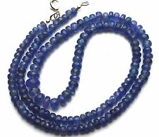 Natural Gemstone Fine Quality Tanzanite Facet 5-9MM Rondelle Beads Necklace 23""