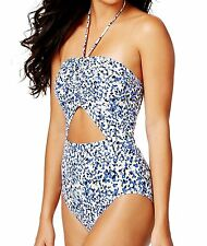 Michael Kors Cutout Halter Bandeau One Piece Sz 8 Swimsuit Maillot