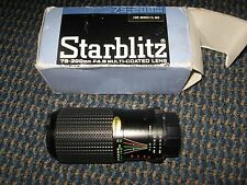 "Starblitz-75-200mm F 4.5 Multi-coated Lens-for Minolta MD Camera-5 1/2"" long"