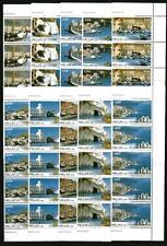 GREECE MNH 2008 GREEK ISLANDS STRIPS OF 5