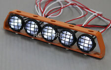 RC Scale Accessories All Metal  LIGHT BAR WITH L.E.D LED LIGHTS Gold