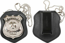 Cut Out & Clip On Leather Special Police Shield Law Enforcement Badge Holder1135