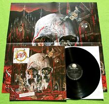 Slayer - South Of Heaven LP + Poster  Geffen Records Def Jam 1988  MINT-
