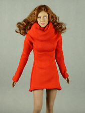 1/6 Phicen, Hot Toys, Kumik, ZC, Vogue - Female Fashion Red Turtle Neck Dress