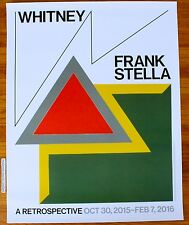 FRANK STELLA RETROSPECTIVE ORIGINAL 2015 EXHIBITION POSTER MINT