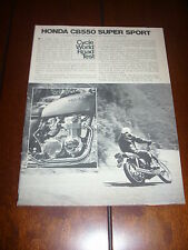 1975 HONDA CB550 SUPER SPORT   - ORIGINAL ARTICLE MOTORCYCLE TEST