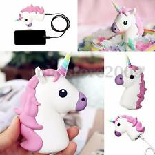 Emoji Unicorn Shape Cartoon 8800mAh Portable Charger External Battery Power Bank