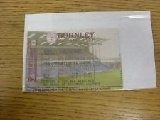 14/12/2002 Ticket: Burnley v Rotherham United [Directors Box Complimentary] . An