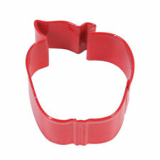 Eddingtons Red Apple Shaped Cookie Cutter - Pastry and Biscuit Cutter Metal 7cm